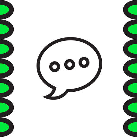 Chat sign line vector icon. Speech bubble vector icon.