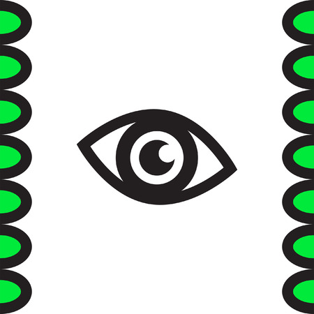 ophthalmology: Eye vector icon. Human vision sign. Ophthalmology symbol. Search symbol icon.
