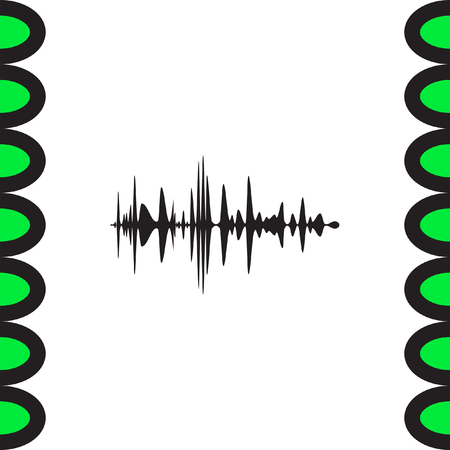 soundwave: Audio signal vector icon. Sound icon. Music symbol.