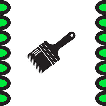 paint tool: Paint brush vector icon. Painting tool sign. Construction equipment symbol