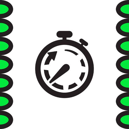 accurate: Stopwatch vector icon. Race sign. Accurate measurement of time symbol