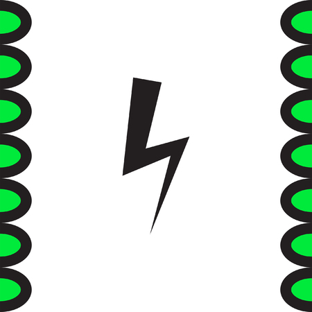 high voltage: Bolt vector icon. Lightning symbol. Electric energy sign. High voltage icon.