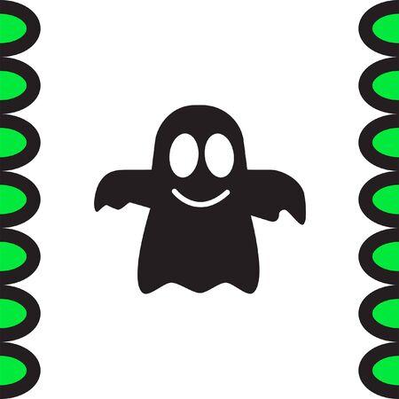 spook: Ghost vector icon. Spirit sign. Spooky symbol Illustration