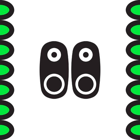 woofer: Audio Speakers vector icon. Audio sign. UI control Sound icon. Music symbol.