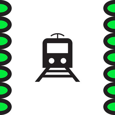 railway transportation: Subway metro vector icon. Train sign. Publick railway transportation symbol Illustration