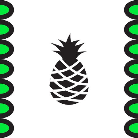 ananas: Pineapple vector icon. Tropical fruit sign. Healthy sweet ananas symbol