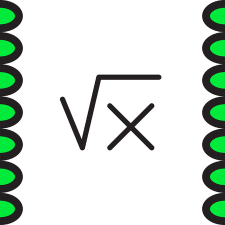 square root: Square root sign line vector icon. Calculator symbol. Math sign icon.