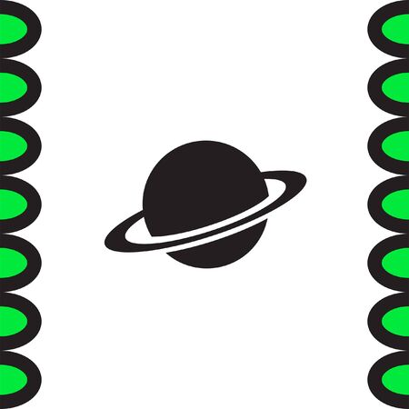saturn: Planet vector icon. Globe sign. Saturn symbol