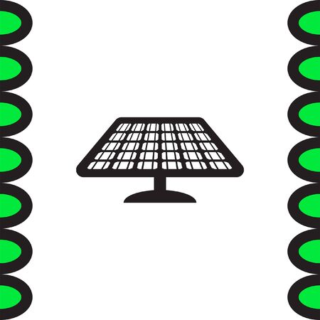 pattern: Solar energy panel vector icon. Power collector sign. Sun energy concept symbol Illustration