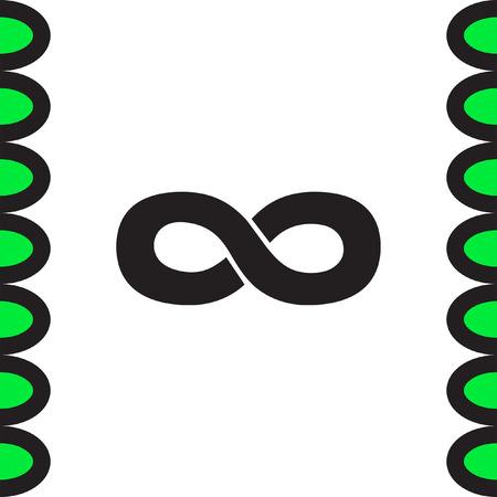 signo infinito: símbolo de infinito del icono del vector. icono de la muestra sin fin. Vectores