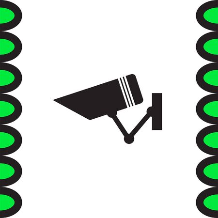 private viewing: Security camera sign vector icon. Video monitoring icon. Camera cctv sign. Surveillance symbol.