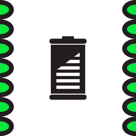 charge: Battery vector icon. Energy power sign. Electricity charge symbol. Illustration