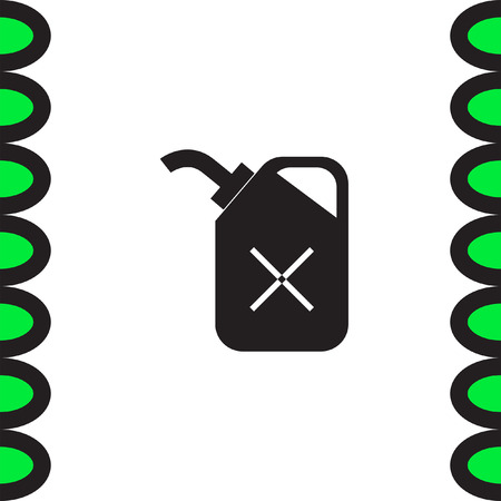 gas can: Fuel can vector icon. Petrol container sign. Gas symbol