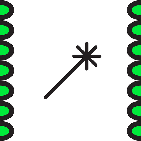 miraculous: Magic wand vector icon. Magician stick sign. Sprinkle symbol Illustration