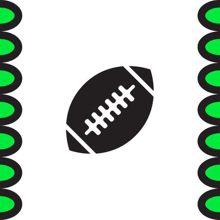 team game: American Football vector icon. Sport ball sign. Team game symbol. Rugby sign icon. Illustration