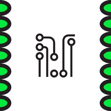 solder: Circuit Board vector icon. Solder sign. Electric wires symbol. Digital hardware symbol.