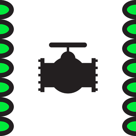 water flow: Industry valve vector icon. Water flow sign.