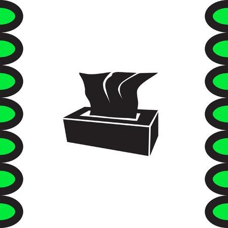 soft tissues: Tissue napkin vector icon. Tissue box sign. Soft hygiene napkins symbol