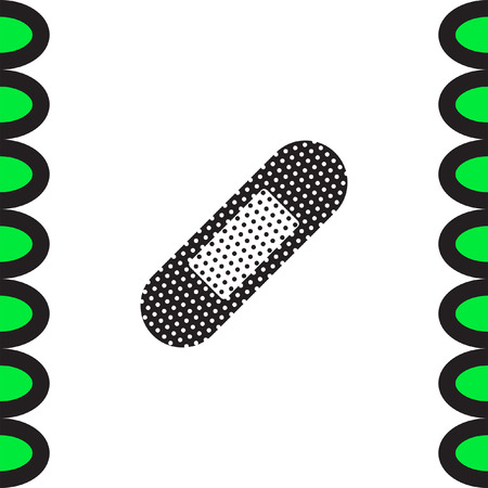first aid sign: Aid Adhesive Tape vector icon. Medical protection sign. Emergency treatment symbol. First aid sign.
