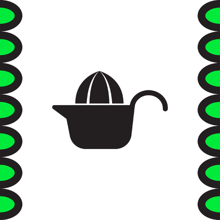 sign maker: Citrus squeezer vector icon. Fruit juicer sign. Household juice maker symbol.