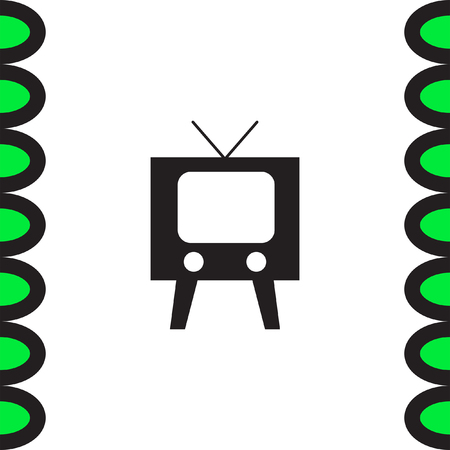 video screen: Television symbol vector icon. Tv sign. Display and video screen symbol