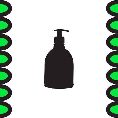 chemical cleaning: Household Cleaning Bottle vector icon. Liquid soap sign. Hand cleaning symbol Illustration