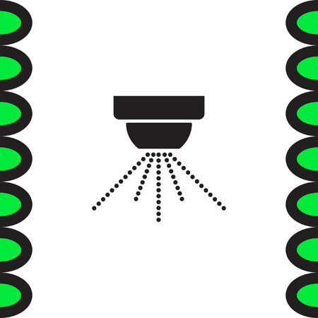 safety device: Water sprinklers vector icon. Fire safety device sign. Emergency symbol