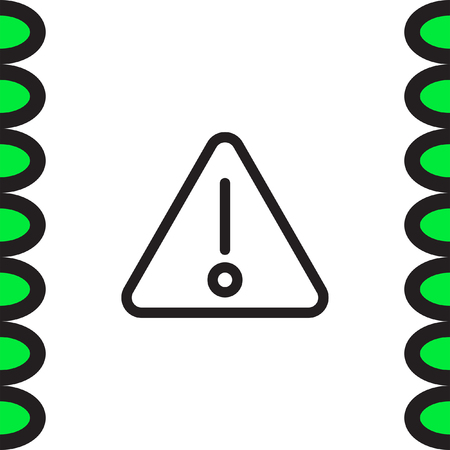 Alert sign vector icon. Warning sign line icon. Caution sign line icon.