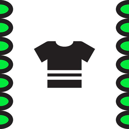 designer clothes: T Shirt vector icon. Clothes sign. Fashion and designer apparel symbol