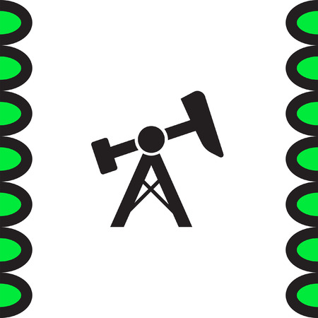 oilfield: Oil pump jack icon. Fuel extraction rig sign. Gas industry symbol Illustration