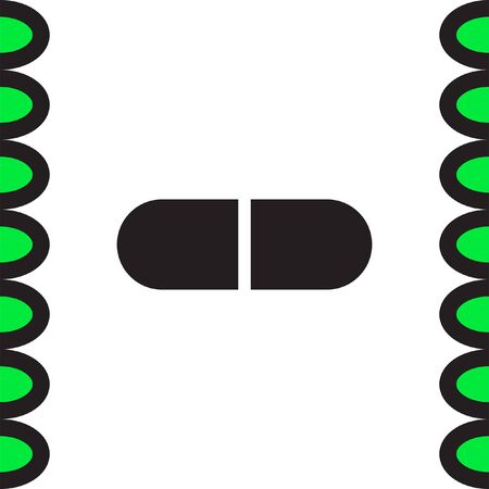 doses: Pill vector icon. Capsule sign. Medicine tablet symbol