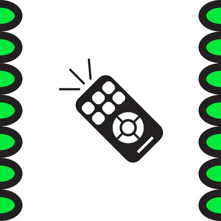 remote: TV remote vector icon. RC controller sign. Television symbol Illustration