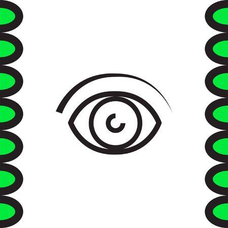 ophthalmology: Eye vector line icon. Human vision sign. Ophthalmology symbol. Search symbol icon.