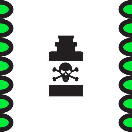 poison symbol: Bottle with Poison vector icon. Warning sign. Toxic danger symbol. Illustration
