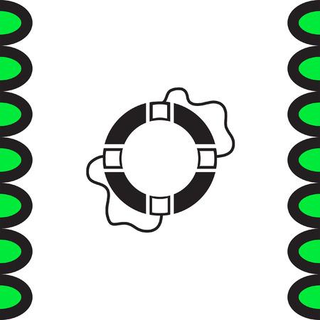 safety belts: Lifebuoy vector icon. Lifebelt sign. Safety floating belt symbol