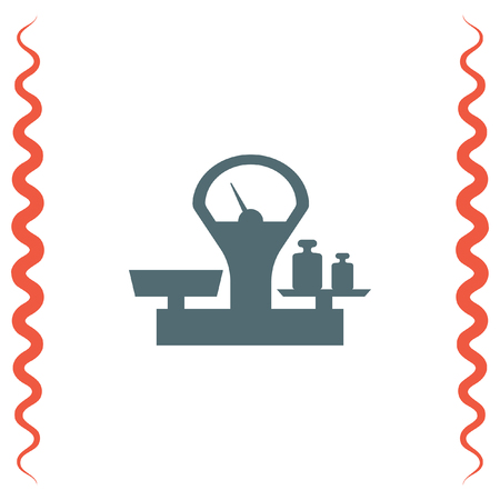to weigh: Scales sign vector icon. Weight measure sign.
