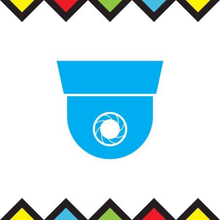 Surveillance vector icon. Security camera sign. Recording device symbol Illustration