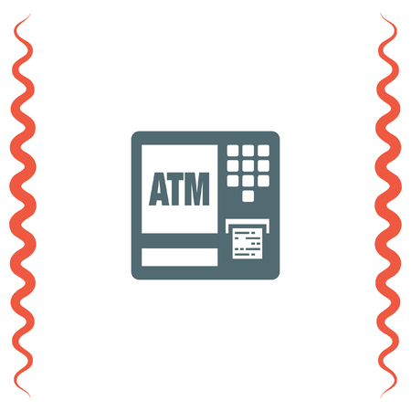 withdraw: ATM vector icon. Automatic cash withdrawal symbol. Electronic payment icon. Finance sign.