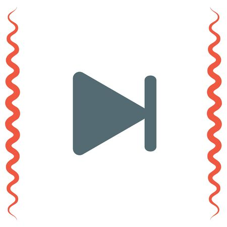 fast computer: Fast Forward Next Track button vector icon. Next song sign. Change song symbol