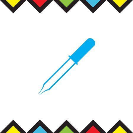 eyedropper: Pipette vector icon. Eyedropper sign. Droplet symbol
