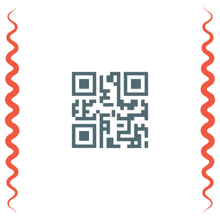 qrcode: QR code vector icon. Qr code scanner sign. Computer business symbol
