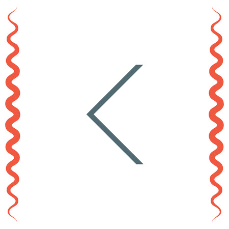 ui: Back arrow sign line vector icon. UI control back button. Illustration