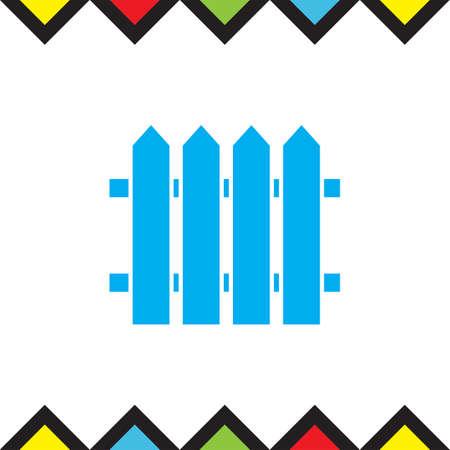 Garden vector icon. Fence sign. Railroad symbol
