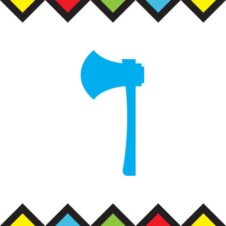 Work axe vector icon. Lumber hatchet sign. Firefighter symbol