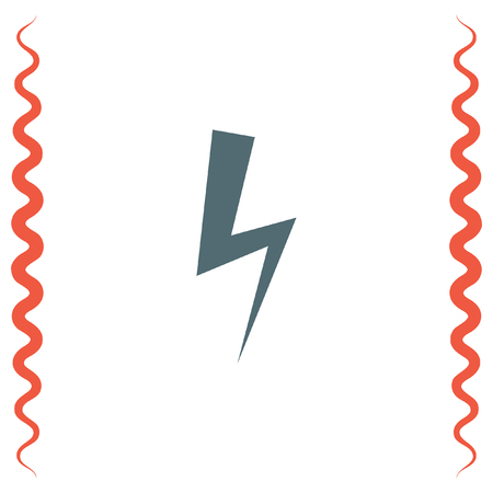 electric energy: Bolt vector icon. Lightning symbol. Electric energy sign. High voltage icon.