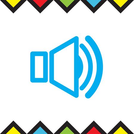 Speaker vector icon. Audio symbol. UI control sound sign. Music pictograph.