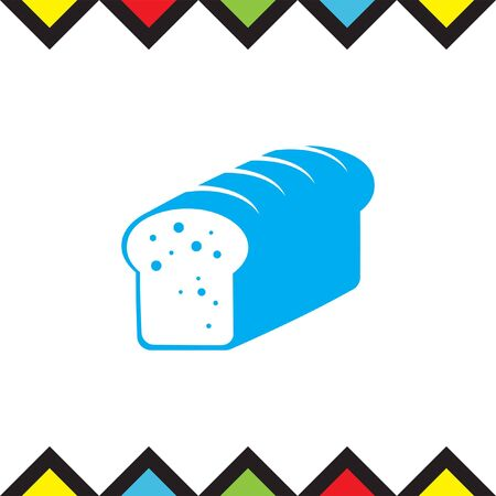 Toast bread vector icon. Whole grain food sign. Sweet loaf symbol. Bakery icon.
