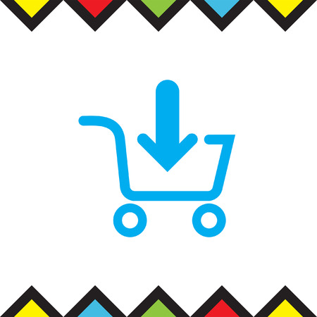 shopping chart: Add to shopping chart vector icon. On line shop sign. Web store purchase symbol. Illustration
