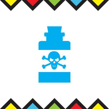 poison symbol: Bottle with Poison vector icon. Warning sign. Toxic danger symbol. Illustration