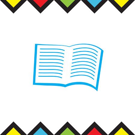 open magazine: Open Book vector icon. Library sing. Magazine symbol
